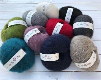 Mohair Yarn Balls