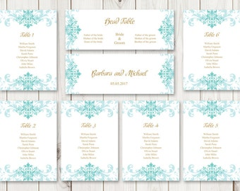 watercolor wedding seating chart template lovely