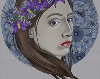 Belladonna portrait illustration