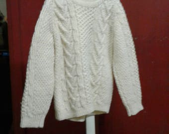 white crochet long sleeve thick