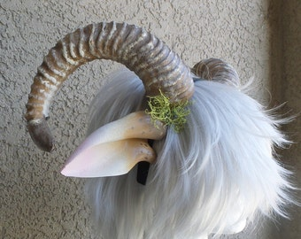NEW ARRIVAL RAM horns headband 3D printed cosplay comicon fantasy horns with ears option wow large