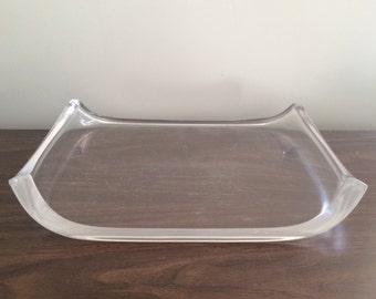 Herb Ritts Astrolite Lucite Tray