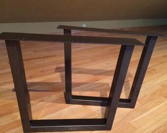 15 19 Tapered Steel Tube Table Legs Custom Table Legs