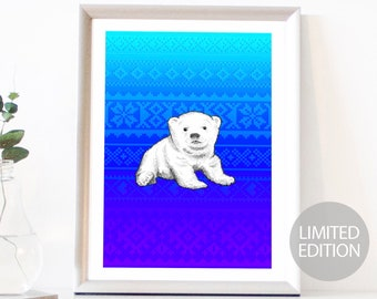 Polar Bear Limited Edition (/12) Signed & Numbered Fine Art Giclee Print