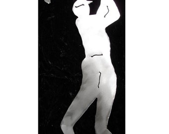GOLFER Golfing Golf Course Metal Garden Yard Art Stake Plant Spike