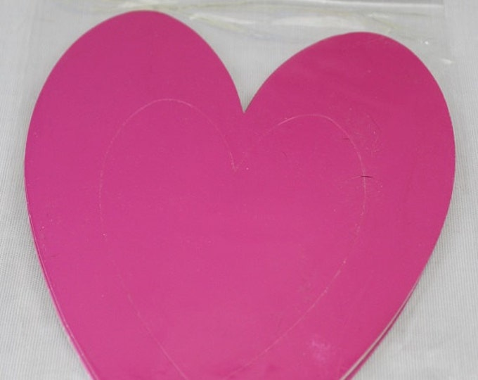 """Darice - Design a Frame - 8pc Hearts in a package fits a 3.4"""" x 4.2"""" photo. Ready to decorate!"""