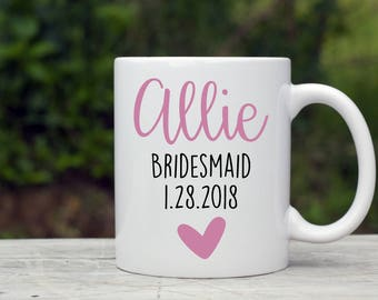 Bridesmaid Coffee Mug, Gift for Bridesmaid, Bridesmaid Box Mug, Maid of Honor Gift, Matron of Honor Gift, Bridesmaid Coffee Idea, Coffee Mug