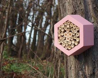 BEE HOTEL, Insect house, Mason bee home - Hotel Pinky