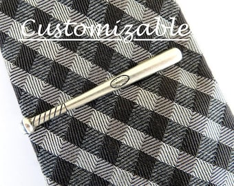 Baseball Bat Tie Clip, Baseball Bat Tie Bar, Baseball Tie Bar,  Sterling Silver and Brass Finish- Gifts For Men- Gifts For Dad