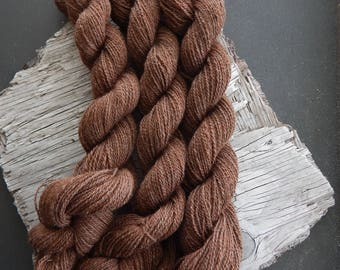 Baby Alpaca Yarn Lace Weight Rose Grey Blended With Silk. Knit, Crochet, Weave, DIY Handmade