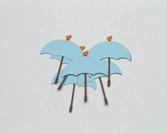 Umbrella Die Cuts-Umbrella Die Cut-Umbrellas-Umbrella-Umbrella Confetti-Rainy Days-Rain-Umbrella Embellishments-Baby Shower Umbrella-Spring