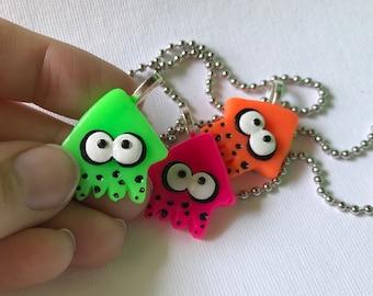 Splatoon inspired Squid necklaces