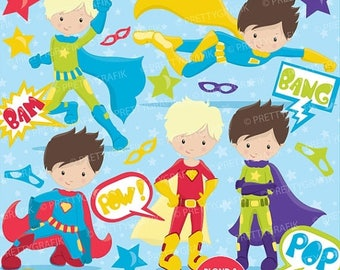 80% OFF SALE Superhero clipart commercial use, vector graphics, digital clip art, digital images - CL660