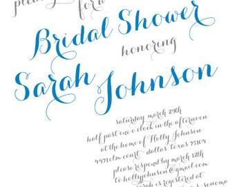 Simply Beautiful Bridal Shower Invitation--5.75x5.75