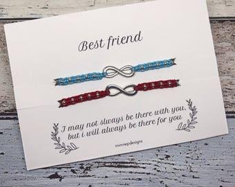 Best friend bracelet | Infinity bracelet | Friendship bracelet | Beaded macrame bracelet | Best friend gift | Gifts for her