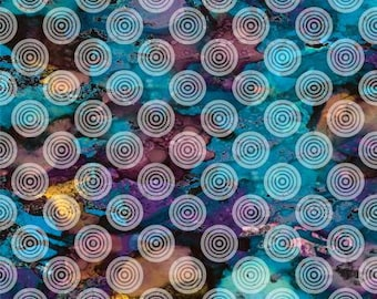 180569 Blue Circles on Texture