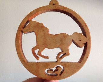 Holiday horse ornament