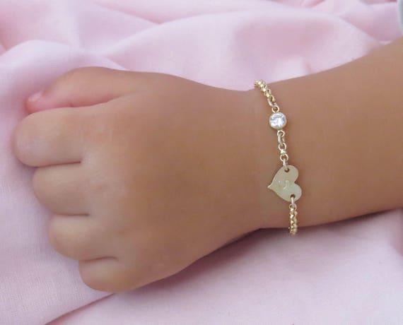 Infant Bracelet Baby Bracelet Child Bracelet Gold Bracelet