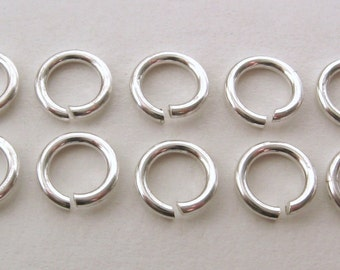 10x Genuine SOLID 925 STERLING SILVER jump rings for charm/pendant 6mm Diameter