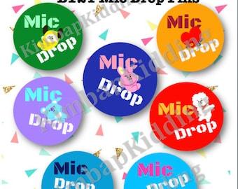 Kpop - BTS - Pins/Buttons/Badges