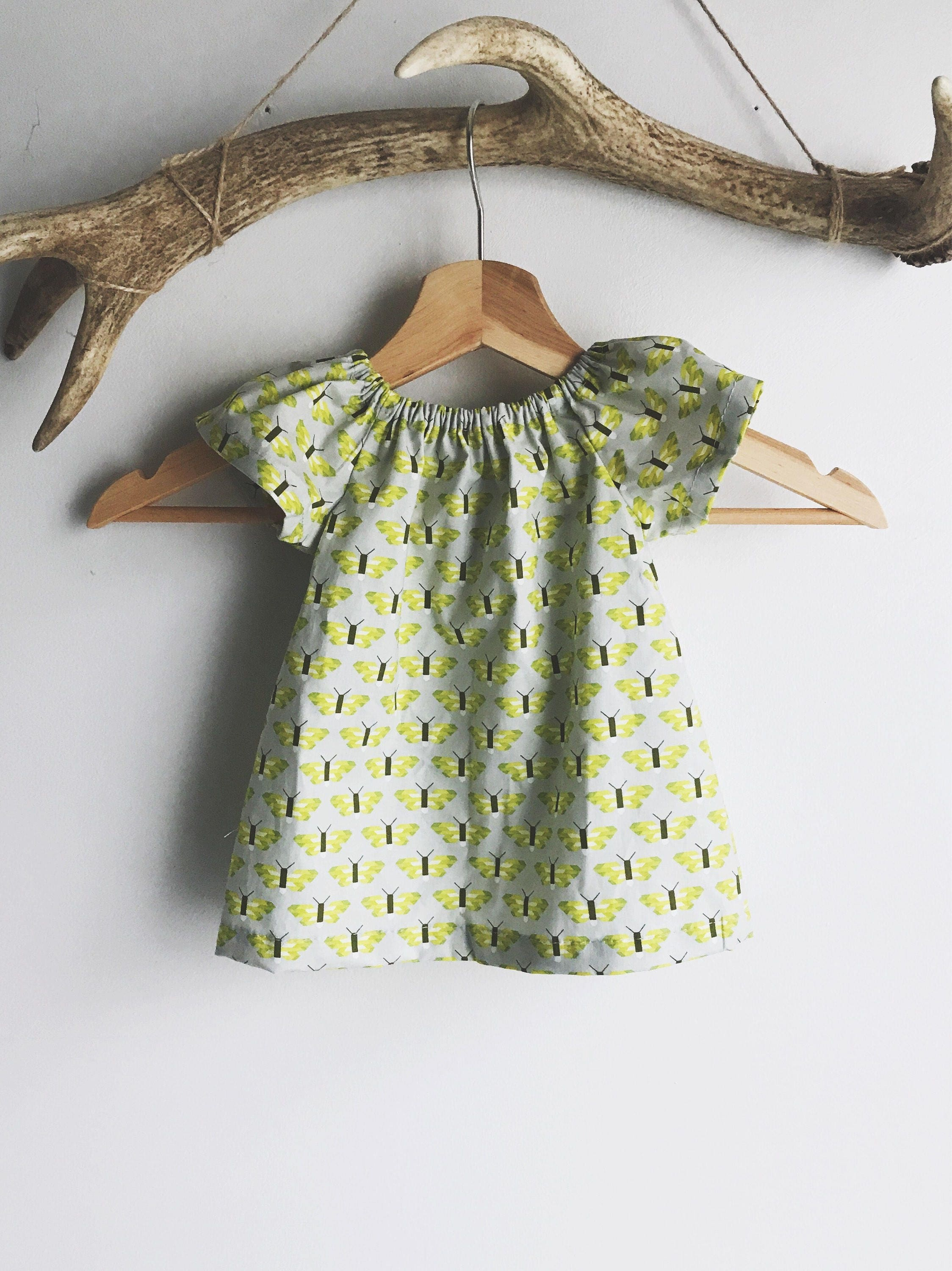 Baby girl cotton dress butterfly print baby dress cotton