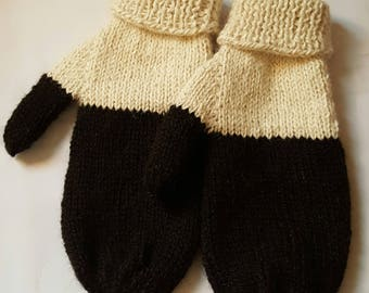 Alpaca Two Toned Mittens