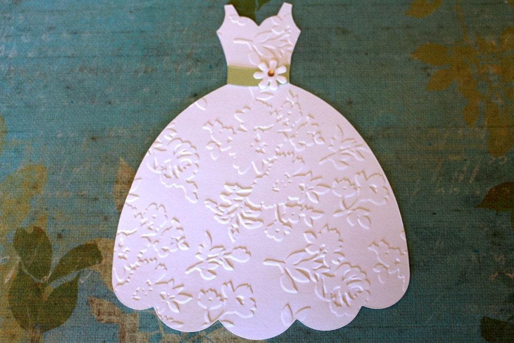 Large Die Cut Dress Form Embossed White wedding Dress Sizzix