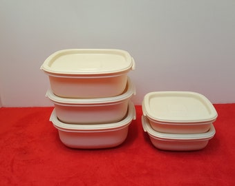Vintage rubbermaid food storage, rubbermaid containers,  rubbermaid #2247 and #2243