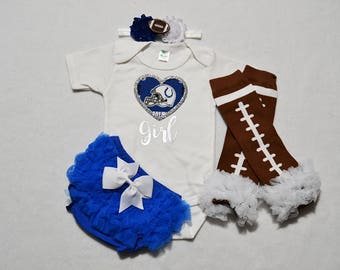indianapolis colts baby girl outfit - baby girl colts outfit - girls colts football outfit - colts baby gift - indianapolis colts football