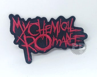 MY Chemical Romance Jacket Patch red iron on sew on Embroidery badge / patch