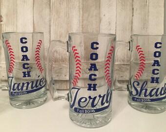 Custom Coach Mugs, Custom Baseball coach Mugs, Coach gifts, softball coach gifts, softball coach, custom baseball coach gift, softball gift