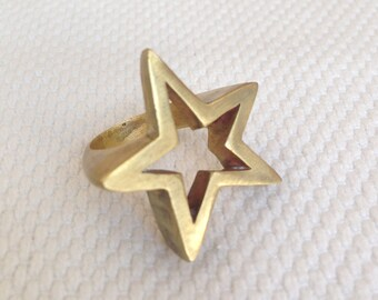SKY / Brass Star ring