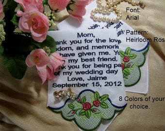 Heirloom Romantic Bridal Wedding Gift Ideas-hankie design includes gift envelop - bridal shower gift ideas - Premium Handkerchief.