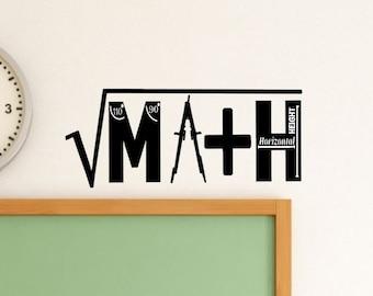 Math Classroom Decal - Math Class - Math Classroom Decor - Teacher Decoration  - Class Decor - Teacher Decoration - Wall Decal - Classroom