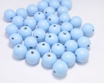 20PCS Blue Wooden Beads,20mm Round Wood ball beads,DIY necklace beads.barcelet beads.wood craft,Make jewellery for selling