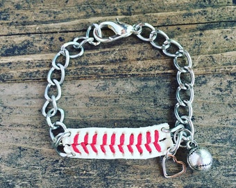 Recycled Baseball Bracelet