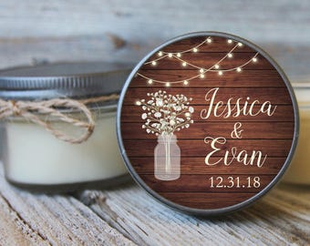 12 - 4 oz Bridal Shower Favor - Rustic Wedding Favor - Fall Wedding Favor