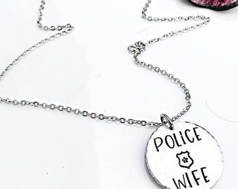 Police jewelry etsy police wife police wife necklace jewelry for police police officer gifts necklace aloadofball Images