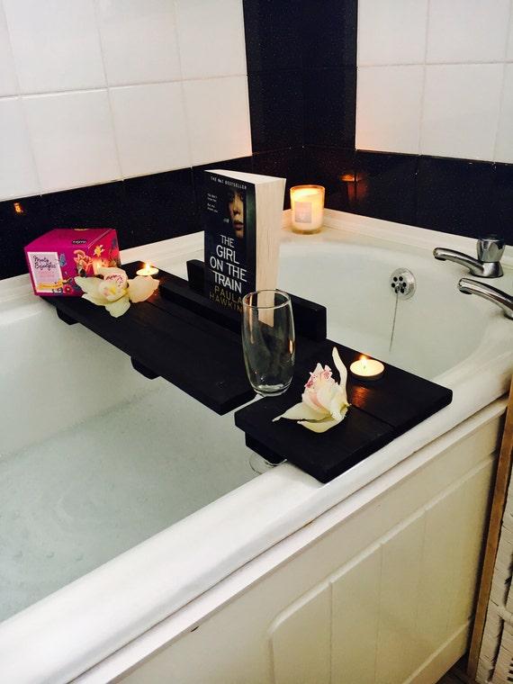 Bath Caddy Bath Shelf Bath Tray Black Bath Caddy Birthday