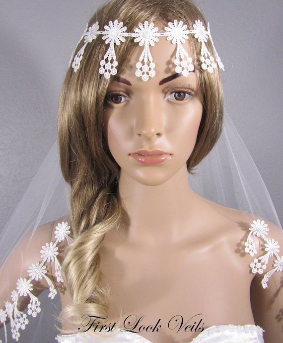 Wedding Veil, Bridal Veil, Boho Veil, Lace, Handmade, Bride, Accessory, Gift