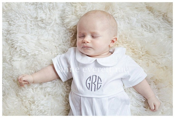 Baby Boy Coming Home Outfit Baby Baptism Outfit Pima Cotton