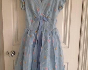 1950's prom dress orginal uk size 8-10