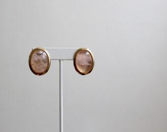 blush rose earrings