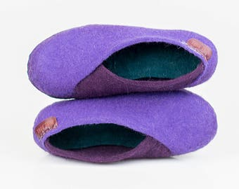 Ready to Ship Envelope Slippers Felted Wool Slippers Elegant slippers Handmade footwear Eco friendly shoes home shoes Cozy spring shoes