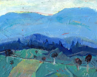Buncombe County - North Carolina landscape acrylic painting