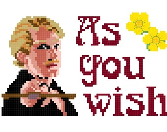 Cross Stitch Patterns -- As You Wish, Drop Your Sword sampler set, 5x7 and 11x14