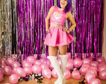 Pink Loveheart PVC Top