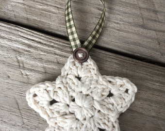 Twelve Crochet Star Ornaments
