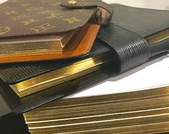 GOLD EGDE WO2P A5/Personal Dated/Undated Planner Inserts, Refill, Organiser, Calendar, Diary, Printed, fit Louis Vuitton Agenda gm mm 2018