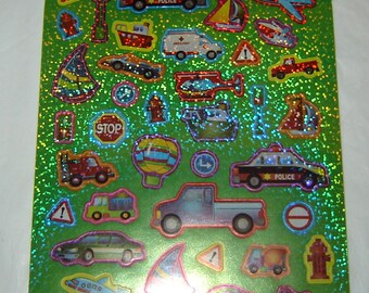 STICKERS, Planes, Cars, Boats, Trucks, By Recollections, Scrapbooking, Cards, Craft Projects, Collage, Stationary (R65)